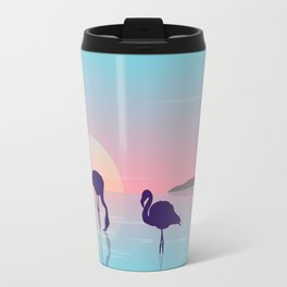 Flamingo Silhouette Beauty Art Travel Mug