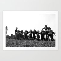 football Art Prints featuring FOOTBALL by 1000images