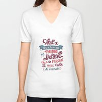 paper towns V-neck T-shirts featuring Paper Towns: Treacherous Thing by Risa Rodil