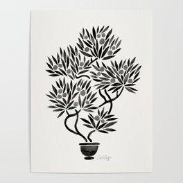 Bonsai Fruit Tree – Black Palette Poster
