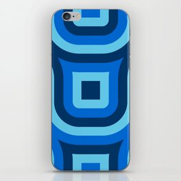 Blue Truchet Pattern iPhone Skin