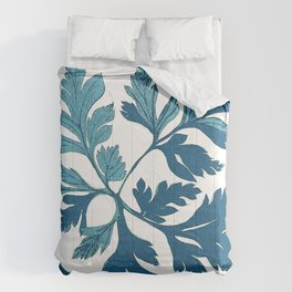 Blue Vintage Leaves Comforters