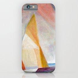 Sailing Yachts at Sunrise by Lyonel Feininger iPhone Case