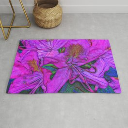 Rhododendron Fuscia Pink Rug