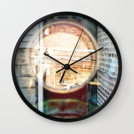 Portal Door - Double Exposure Wall Clock