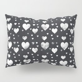 Cute Chalkboard Hearts Pattern Pillow Sham