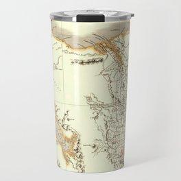 Map Of Tasmania 1830 Travel Mug