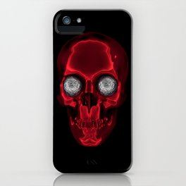 hypnotic skull iPhone Case