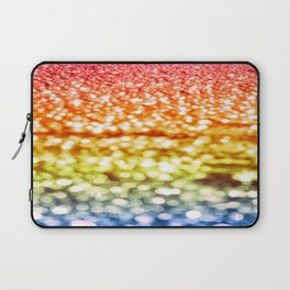 Rainbow Bokeh Sparkle Laptop Sleeve