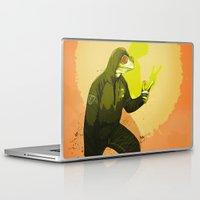 kermit Laptop & iPad Skins featuring kool kermit by Kingu Omega