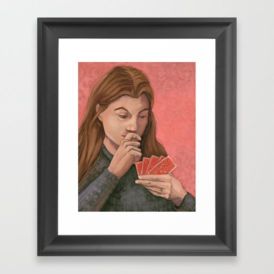 The Card Player Framed Art Print