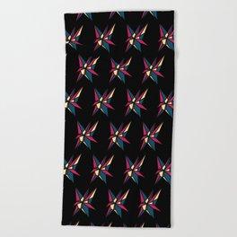 Crystallis [BLACK] Beach Towel