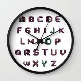 Alphabet - JOY! Wall Clock
