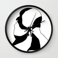 hitchcock Wall Clocks featuring Hitchcock by Austin Hillebrecht