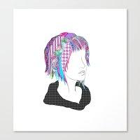 tye dye Canvas Prints featuring Dye by Charee