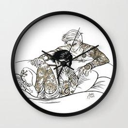 Tattooed Dean and Castiel Wall Clock