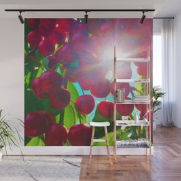 Summer Cherries Wall Mural