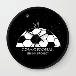 COSMIC FOOTBALL by ISHISHA PROJECT Wall Clock