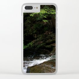 Forest Oasis Clear iPhone Case