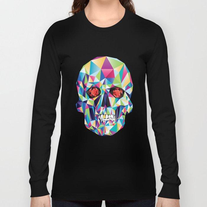Geometric Candy Skull Long Sleeve T-shirt