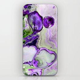 Colorful Purple Fluid Acrylic Pour Art - Digital Art iPhone Skin