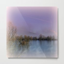Lakeside Impression Metal Print
