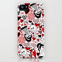 Stick Figures in Love iPhone Case
