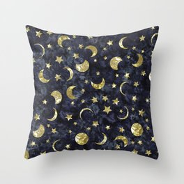 Midnight Stars Throw Pillow
