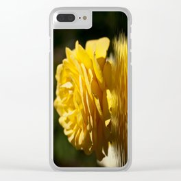 Yellow Rose Flood Clear iPhone Case