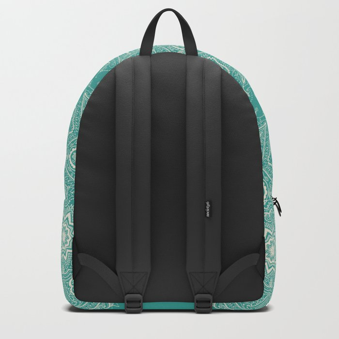 Teal and Lace Mandala Backpack