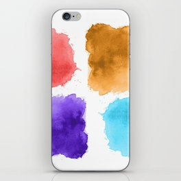 watercolor patch collection iPhone Skin