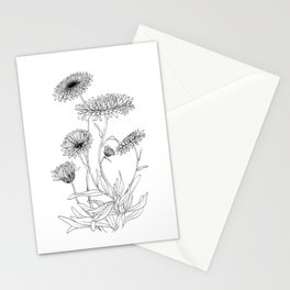 Calendula Flowers Stationery Cards