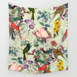 Floral and Birds VIII Wall Tapestry