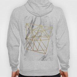 Gold geometric marble Hoody