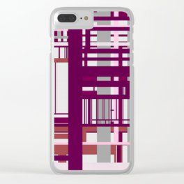 Built Through Lines Clear iPhone Case
