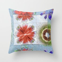 Uncrazy Peeled Flowers  ID:16165-053051-02651 Throw Pillow