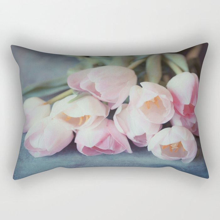 Beautiful Tulips Rectangular Pillow