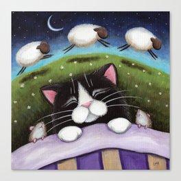 Cat - Sheep Dreams Canvas Print