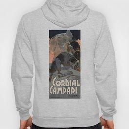 Vintage 1909 Cordial Campari Advertisement by Adolfo Hoenstein Hoody