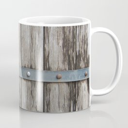 Wood With Metal Strap Coffee Mug