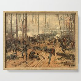 Civil War Battle of Shiloh by Thulstrup (1888) Serving Tray