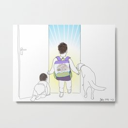 Morning Routine 5 - Out the Door Metal Print