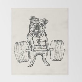English Bulldog Lift Throw Blanket