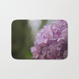 Purple hydrangea Bath Mat