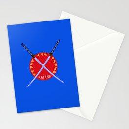 Katana Sword Design Stationery Cards