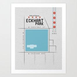 Parks of Chicago: Eckhart Park Art Print