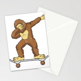 Skateboarding Bigfoot Sasquatch on Skateboard Gift for Skater  Stationery Cards