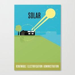 Renewable Electrification Administration - Solar Canvas Print