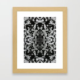 without your consent Framed Art Print