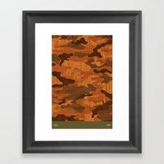 Modern Woodgrain Camouflage / Woodland Print Framed Art Print